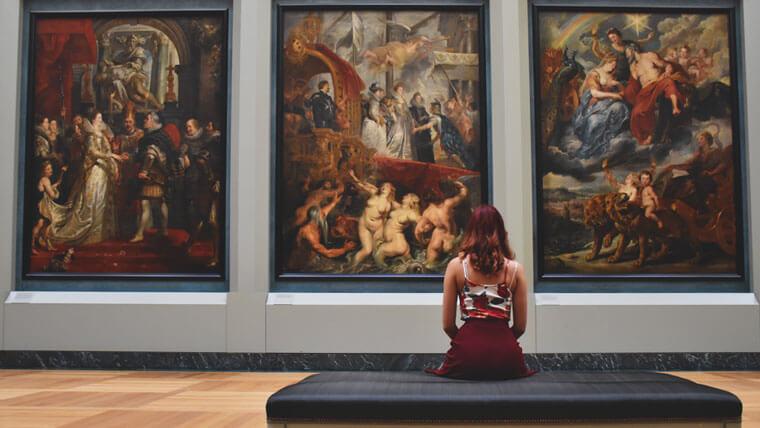 芸術に触れる