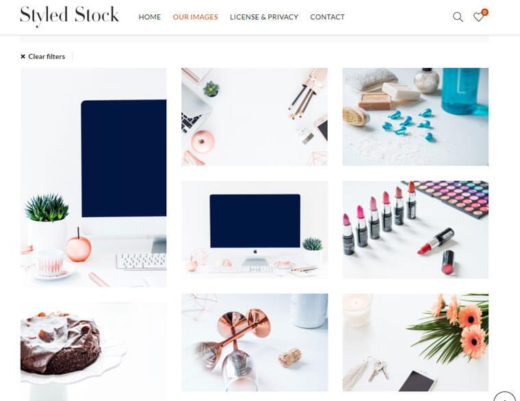 著作権フリー画像サイト Styled Stock